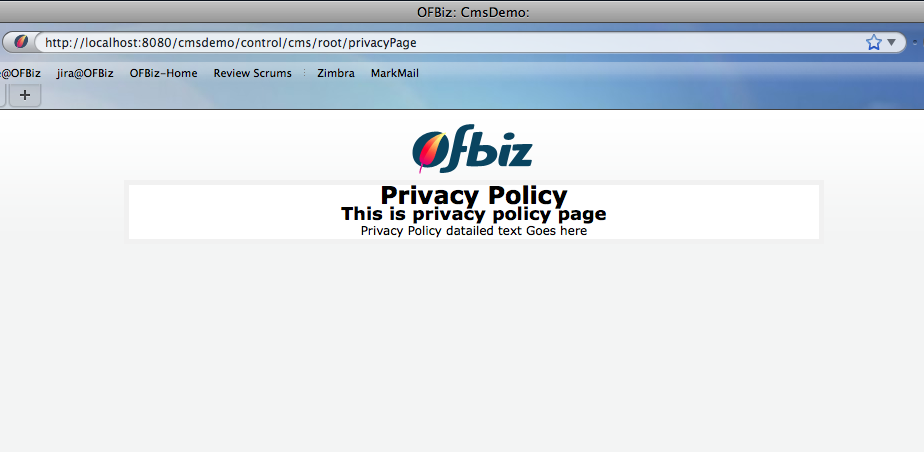 OFBiz Tutorial - Using CMS for Static Web Pages