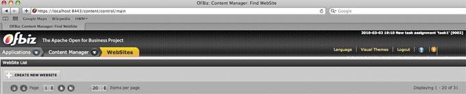 Ofbiz Tutorial Quick Cms Updates 1