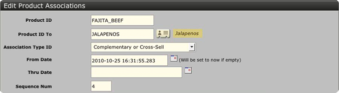 Ofbiz Tutorial Cross Sell 5
