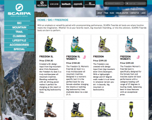 Multi-Brand Ecommerce for Scarpa North America