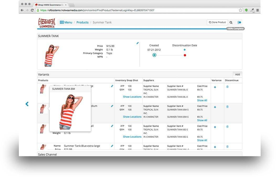 Wholesale Distribution Software Single Item Screenshot