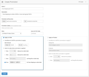 Product Management Page Screenshot