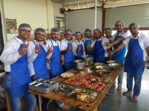 Food prep team at Apache OFBiz Community Day