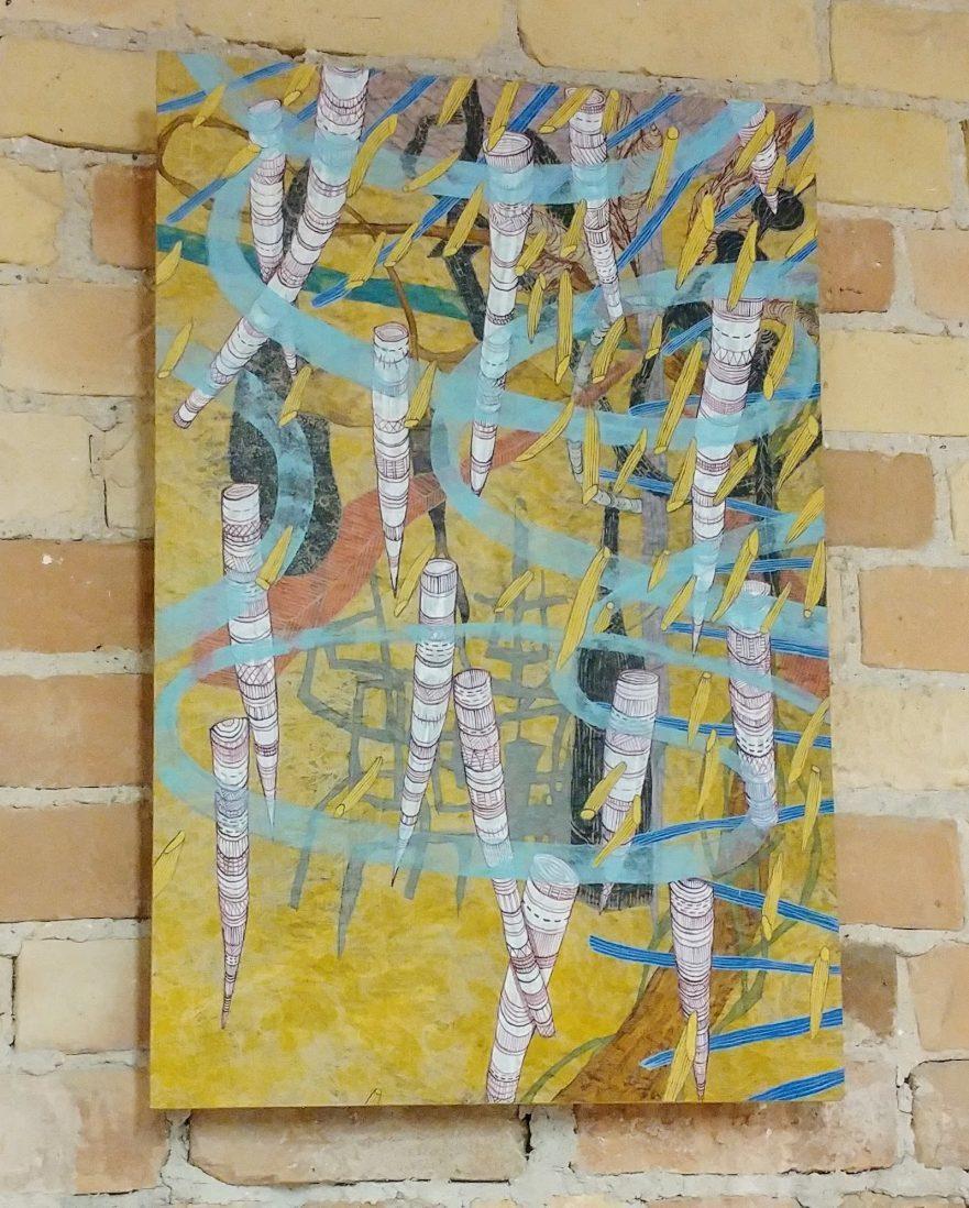Hurricane Rain Painting by Laura Sharp Wilson