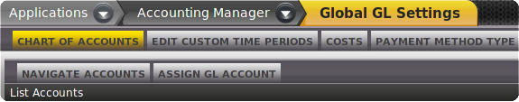 Account Manager Menu
