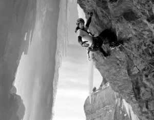 jason nelson mixed climbing in provo canyon utah