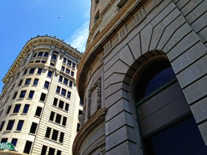 Boston and Newhouse buildings in salt lake city