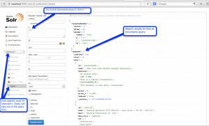 Apache Solr Enterprise Search Platform Admin Console Query Page