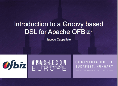 Groovy based DSL for Apache OFBiz