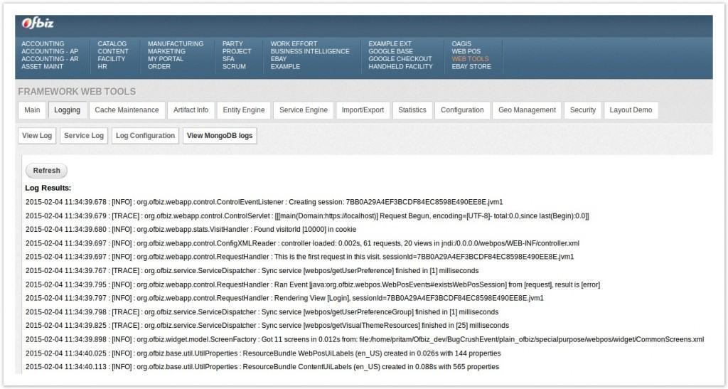 MongoDB_OFBiz_Final screen