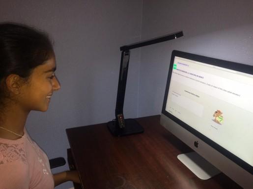 Student using Mersythe