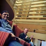 HotWax Systems' Anil Patel (COO) and Jacopo Cappellato (CTO) at the 2015 ApacheCon