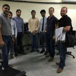 HotWax Systems' executive board - Anil Patel (COO), Jacopo Cappellato (CTO) and Mike Bates (CEO) - meet with Indore team
