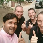 HotWax Systems' Ashish Vijaywargiya (VP of Operations), Mike Bates (CEO), Scott Gray (Software Developer) and Jacopo Cappellato (CTO) love a good selfie pic
