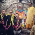 HotWax Systems' Jacopo Cappellato (CTO), Mike Bates (CEO) and Scott Gray (Software Developer) visit one of Indore's numerous historic monuments and temples